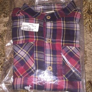 Brand New Boy's Plaid Button Down Shirt